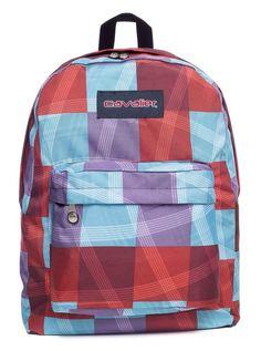 Mochila escolar Cavalier estampada xadrez - Enluaze Loja Virtual | Bolsas, mochilas e pastas