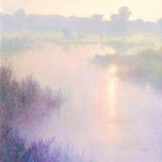 Quiet Morning, John Brandon Sills. Oil Watercolor Artwork, Watercolor Landscape, Abstract Landscape, Seascape Paintings, Landscape Paintings, Lilac Painting, Forest Painting, Painting Competition, Impressionist Landscape