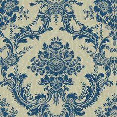 """The Wallpaper Company - Papier Peint 20.5"""" Bleu à Gros Motifs - WC1282873 - Home Depot Canada"""