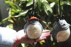 Totoro House Decoration Crafts – Cute Totoro: My Neighbor Totoro  #totoro  #cutetotoro  https://cutetoro.com/collections/totoro/products/kawaii-zakka-cartoon-grey-totoro-resin-crafts-jushi-craft-gift-doll-bell-windchime-door-hanging-vintage-home-decoration