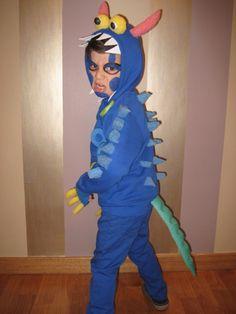Disfraz de mostruo casero. Monster costume DIY