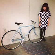 Fixie girl taiwan - Momo Wu & Njs Kiyo track bike