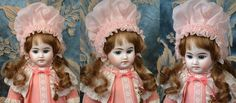 """Pale Blue-Eyed Fleischmann & Bloedel French Antique 15.5"""" Bisque Doll from kathylibratysantiques on Ruby Lane"""