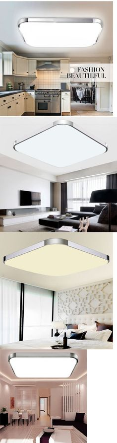 Lamps And Lighting New Modern Bedroom Square Led Ceiling Light 56W Living Room Surface Mount