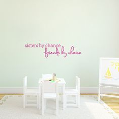 Sisters By Chance Wall Decals Home Décor Wall Decals