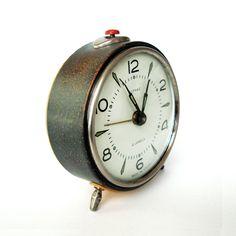 Vintage Alarm Clock VITYAZ 4 Jewel - Made in USSR Vintage Clock Home decor Soviet alarm Clock Wind-up Clock Mechanical clock Retro Home decor Soviet clock Retro Office decor Vityaz clock USD Vintage Alarm Clocks, Mechanical Clock, Retro Office, Retro Home Decor, Office Decor, Great Gifts, Jewels, Steel, Etsy
