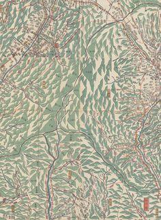 Japanese Map, Tokugawa Era, 1600-1870