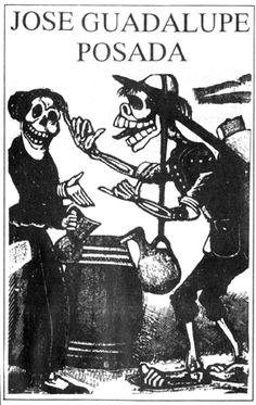LOs dias de los muertes & Jose Guadalupe posada!!!! Death Art, Skeleton Art, Painter Artist, Chicano Art, Mexican Art, 2d Art, Skull And Bones, Gravure, Skeletons