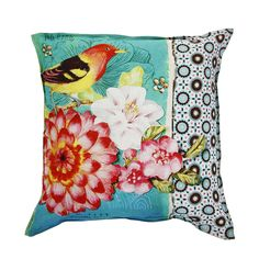 Pip Studio Art Bird Cushion - Wonderful bird throw pillow! Great colors.