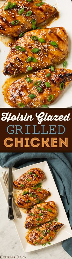 Hoisin Glazed Grilled Chicken - quick, easy, flavorful Asian Chicken ...