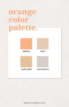 How to Easily Find a Color Palette for Your Brand - Breezy Camper. ,How to Easily Find a Color Palette for Your Brand, Orange Color Palettes, Colour Pallete, Colour Schemes, Color Patterns, Adobe Color Palette, Orange Palette, Color Combinations, Web Design, Graphic Design