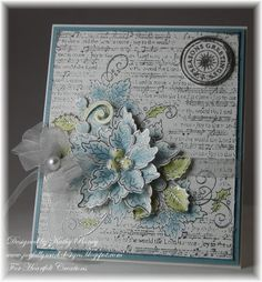 Blue Sparkling Poinsettia by rosekathleenr - Cards and Paper Crafts at Splitcoaststampers