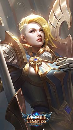 Power of Megalith, Power of Wildness, Flower of the Wastes, Sacred Guard, Aries. Mobile Wallpaper Android, Mobile Legend Wallpaper, Hero Wallpaper, Moba Legends, Legend Games, The Legend Of Heroes, Games Images, Wolf, Demon Girl