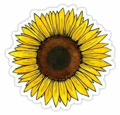 High quality Sunflower gifts and merchandise. Inspired designs on t-shirts, posters, stickers, home decor, and more by independent artists and designers from around the world. Stickers Cool, Red Bubble Stickers, Tumblr Stickers, Phone Stickers, Printable Stickers, Happy Stickers, Ukulele Stickers, Macbook Stickers, Aesthetic Stickers