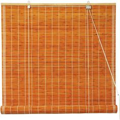 Olive Green - WT-YJ1-8B6-3-24W Oriental Furniture Burnt Bamboo Roll Up Blinds 24 in. x 72 in.