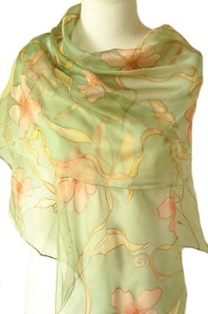 NEW Top Silk Scarf Womens Christmas Gift Wrap Birthday Hijab Lily Yellow White