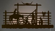 Explore Lone Star Western Decor now and take savings up to on rustic metal wall art, including this Rust Cowboy Corral Back Lit Wall Art! Metal Tree Wall Art, Metal Wall Sculpture, Metal Wall Decor, Metal Art, Western Wall Decor, Light Wall Art, Shadow Art, Le Far West, Tree Art