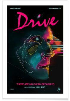 Drive als Premium Poster door CMA | JUNIQE