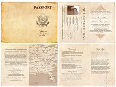 passport wedding program template - 1000 ideas about passport template on pinterest rubrics