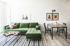 Sven Grass Green Right Sectional Sofa - Sectionals - Article Scandinavian Furniture, Rustic Furniture, Home Furniture, Antique Furniture, Furniture Layout, Outdoor Furniture, Small Space Living, Small Spaces, High Quality Furniture