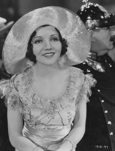 Claudette Colbert c 1930s << I love how sweet she looks in this outfit!
