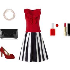 Black & Red by www.lookingstylish.co.uk, created by mfsadler on Polyvore