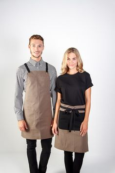 100% cotton canvas apron in store / Embroidery logo / Uniforms / Coffee shop…