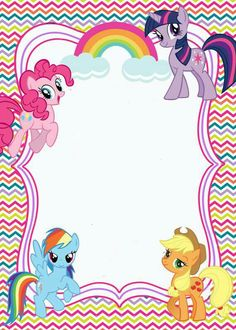 My Little Pony Birthday Party 4th Parties Girl Invitation Templates