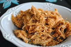 The Audacious Cook: Slow Cooker BBQ Pulled Chicken! serve over rice & cabbage