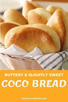Jamaican Dishes, Jamaican Recipes, Jamaican Coco Bread Recipe, Recipe For Bread, Crusty Bread Rolls Recipe, Homemade Yeast Rolls, Challah Bread Recipes, Bread Maker Recipes, Homemade Breads