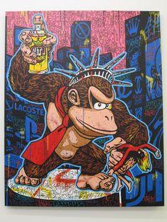 King-Kong King of the city // Street artist - Speedy Graphito - Galerie Polaris Graffiti Art, New York Graffiti, Pop Art, Futuristic City, Amazing Street Art, King Kong, French Artists, Street Artists, Banksy