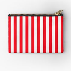 Cabana, Zipper Pouch, Pouches, Cosmetic Bag, Are You The One, Tent, Red And White, Zip Around Wallet, Vibrant