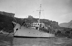 Grace Yacht Anchored at Monaco Harbour