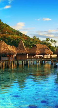 Mo'orea Island ~ is a high island located in French Polynesia, northwest of Tahiti.