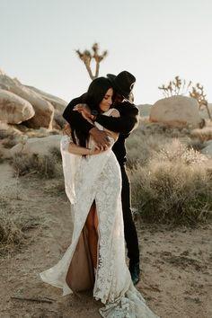 modern-bohemian-desert-elopement-joshua-tree-festival-adventurous-destination-wedding Joshua Tree Wedding, Looking Dapper, Joshua Tree National Park, Elopement Inspiration, Modern Bohemian, California Wedding, Wedding Portraits, Photo Sessions, Destination Wedding