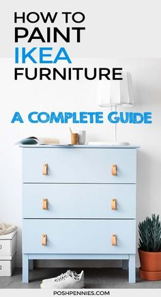 The Ultimate Guide To Painting IKEA Furniture. look no further!) The Ultimate Guide To Painting IKEA Furniture. look no further! Learn how to paint IKEA […] dresser makeover Ikea Furniture Hacks, Diy Garden Furniture, My Furniture, Furniture Projects, Ikea Hacks, Diy Hacks, Refinished Furniture, Furniture Removal, Country Furniture