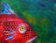 Nancy Merkle    Red fish  http://fineartamerica.com/featured/red-fish-nancy-merkle.html