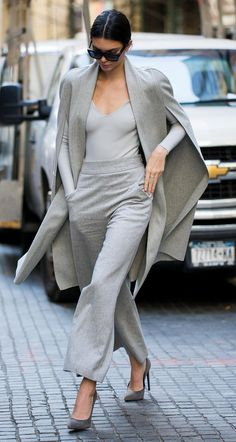 7 Times Kendall Jenner Mastered Monochromatic Looks Like a Pro - 7 Times Kendall Jenner Mastered Monochromatic Looks Like a Pro – In Gray Modern Separates – fro -