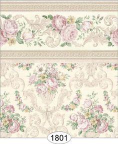 Wallpaper - Empress Floral Vase - Beige