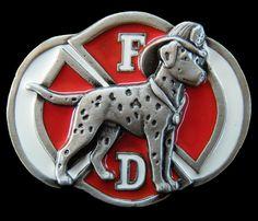 BOUCLE DE CEINTURE FIREFIGHTER FIREMAN DALMATIAN DALMATION DOG PET BELT