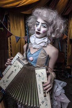 Image result for antique woman clown makeup