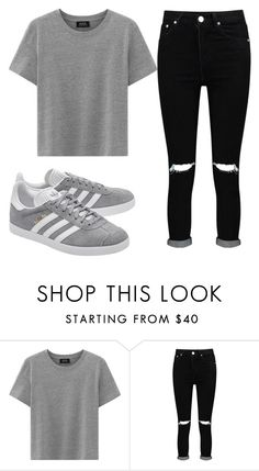 """""""dfgfhdgfsfds"""" by k-hof ❤ liked on Polyvore featuring Boohoo and adidas Originals"""