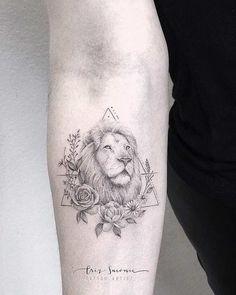 Lion Tattoo - Tattoo Insider Lion tattoos can be done in a countle. - Lion Tattoo – Tattoo Insider Lion tattoos can be done in a countless amount of styl - Leo Tattoos, Couple Tattoos, Body Art Tattoos, Small Tattoos, Tattos, Tattoo Hip, Lotus Tattoo, Tiger Tattoo, Lioness Tattoo