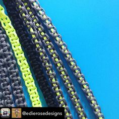 "Nice! @edierosedesigns ""Lots of modern cord macrame happening at Edie Rose HQ today. We will be launching our new designs at @e17designers market this Sunday at hoe street central pop up market - come down and see us'"