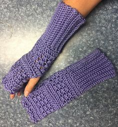 Gauntlet style mitts with ribbed cuff, these mitts fit a medium to large woman's hand and use less than one skein of Caron Simply Soft