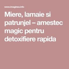 Miere, lamaie si patrunjel – amestec magic pentru detoxifiere rapida Food And Drink, Health Fitness, Pharmacy, The Body, Fine Dining, Health And Fitness, Fitness