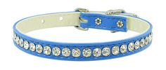Evans Collars 3/8' Jeweled Collar, Size 14, Vinyl, Blue ** Visit the image link more details. (This is an affiliate link and I receive a commission for the sales)