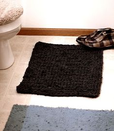Bath rug from old sheet