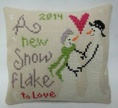 Expectant Parents Cross Stitched  Mini Pillow / by luvinstitchin4u