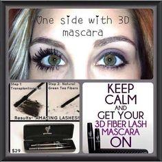 3D Fiber Lash before & after   #beauty #younique #cosmetics
